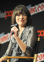 "NEW YORK, NY - OCTOBER 07:  Mila Jovovich attends  ""Resident Evil: The Final Chapter"" panel at New York ComiCcon at the Theater in Madison Square Garden on October 7, 2016. Photo by: John Palmer/ MediaPunch"