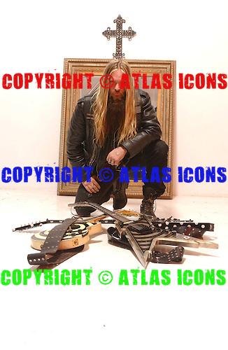 Zakk Wylde;  Black Label Society; Studio Session; In New York City, 2005<br /> Photo Credit: Eddie Malluk/Atlas Icons.com