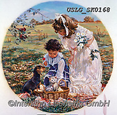 CHILDREN, KINDER, NIÑOS, paintings+++++,USLGSK0168,#K#, EVERYDAY ,Sandra Kock, victorian