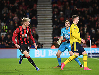27th January 2020; Vitality Stadium, Bournemouth, Dorset, England; English FA Cup Football, Bournemouth Athletic versus Arsenal; Sam Surridge of Bournemouth celebrates scoring in extra time 1-2