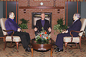 United States President Bill Clinton Hosts Trilateral Meeting With Prime Minister Ehud Barak of Israel and Foreign Minister Farouk al-Shara of Syria at The Clarion Hotel, Shepherdstown, West Virginia.January 4, 2000..Mandatory Credit:  David Scull / White House via CNP