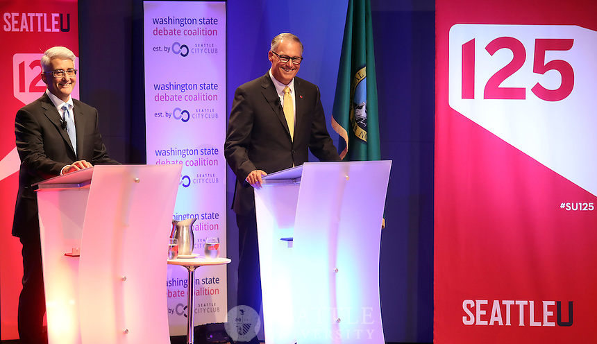 September 26th 2016 - Washington State gubernatorial debate between Gov. Jay Inslee and Republican challenger Bill Bryant held at Seattle University.