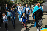 Seattle, WA - Tuesday June 14, 2016: Fans prior to a Copa America Centenario Group D match between Argentina (ARG) and Bolivia (BOL) at CenturyLink Field.