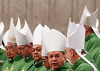 Bishops attend a Mass celebrated by the Pope for the World Mission Day in St. Peter's Basilica at the Vatican, October 20, 2019.<br /> UPDATE IMAGES PRESS/Riccardo De Luca<br /> <br /> STRICTLY ONLY FOR EDITORIAL USE