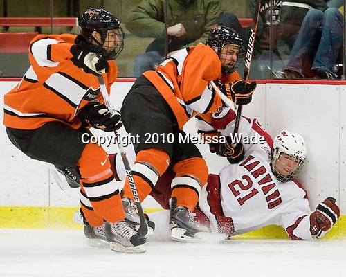 Michael Sdao (Princeton - 24), Will MacDonald (Princeton - 22), Marshall Everson (Harvard - 21) - The Princeton University Tigers defeated the Harvard University Crimson 2-1 on Friday, January 29, 2010, at Bright Hockey Center in Cambridge, Massachusetts.