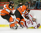 Michael Sdao (Princeton - 24), Will MacDonald (Princeton - 22), Marshall Everson (Harvard - 21) - The Princeton University Tigers defeated the Harvard University Crimson 2-1 on Friday, January 29, 2010, at Bright Hockey Center in Cambridge, Massachusetts.