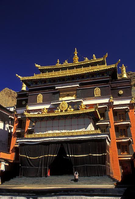 Kelsang Temple at Tashilhunpo Monastery, Seat of Yellow Hat Panchen Lamas, Shigatse, Tibet, Tibetan Autonomous Region, China