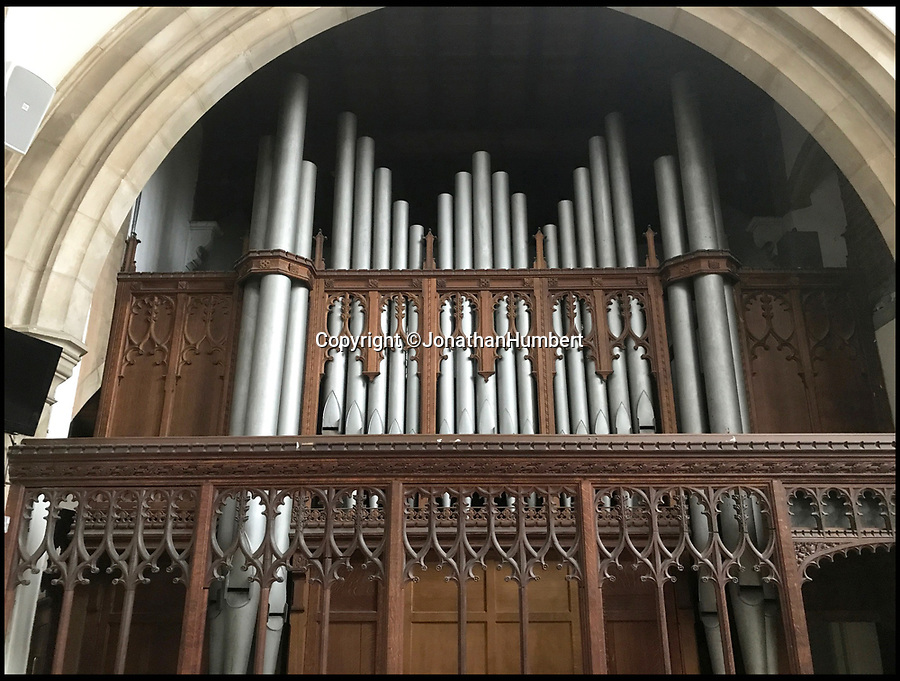 BNPS.co.uk (01202 558833)Pic: JonathanHumbert/BNPS110 year old pipe organ.<br /> <br /> A church organist is leading a group of angry parishioners in a campaign to save a 110-year-old pipe organ, after church official's announced plans to replace it with 'evangelical space' and 'happy clappy' music. The historic instrument that has serenaded the congregation at St Paul's Church in St Albans, Herts, since 1910 is in danger of demolition due to a 'growing evangelical presence'.Within the last 20 years the face of the Edwardian church has changed, with pews being replaced with soft seating and the original layout being switched around. The Diocese of St Albans have now made an application to dispose of the organ and replace it with an electronic one, much to the dismay of traditional worshippers. One of the organists at St Paul's, Jonathan Humbert, has launched a campaign to save the beloved instrument - claiming that such 'happy clappy' modernisations are 'tearing the heart out of the Church of England'.