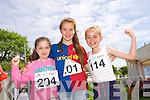 Suina Crowe, Aoife O'Connor, Eabha Murphy at the Spa National School Donal Walsh family Fun Day on Sunday