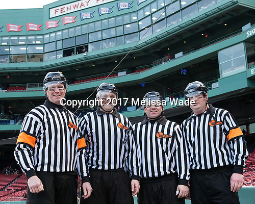 Kevin Keenan, Marc Sullivan, Brendan Blanchard, Tim Low - The University of Maine Black Bears defeated the University of Connecticut Huskies 4-0 at Fenway Park on Saturday, January 14, 2017, in Boston, Massachusetts.