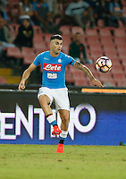 Elseid Hysaj  during the  italian serie a soccer match,between SSC Napoli and   Bologna FC    at  the San  Paolo   stadium in Naples  Italy , September 18, 2016