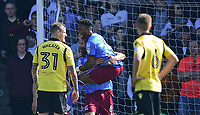 Scunthorpe United's David Mirfin, left, celebrates scoring the opening goal with team-mate Ivan Toney<br /> <br /> Photographer Chris Vaughan/CameraSport<br /> <br /> The EFL Sky Bet League One - Scunthorpe United v Bolton Wanderers - Saturday 8th April 2017 - Glanford Park - Scunthorpe<br /> <br /> World Copyright &copy; 2017 CameraSport. All rights reserved. 43 Linden Ave. Countesthorpe. Leicester. England. LE8 5PG - Tel: +44 (0) 116 277 4147 - admin@camerasport.com - www.camerasport.com
