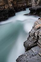 River flows over rocks, Abisko, Lappland, Sweden