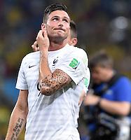 FUSSBALL WM 2014  VORRUNDE    GRUPPE E     Ecuador - Frankreich                  25.06.2014 Olivier Giroud (Frankreich)