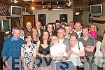 40th: Tom Kelly, Dirha East, Listowel (seated, front) partied the night away at The Mighty Dollar, Listowel on Saturday night for his 40th birthday. Pictured with Tom include his wife Denise, children Stacey & Tom along with family & friends.