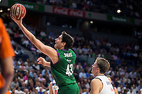 Real Madrid's player Luka Doncic and Unicaja Malaga's player Carlos Suarez during match of Liga Endesa at Barclaycard Center in Madrid. September 30, Spain. 2016. (ALTERPHOTOS/BorjaB.Hojas) /NORTEPHOTO.COM