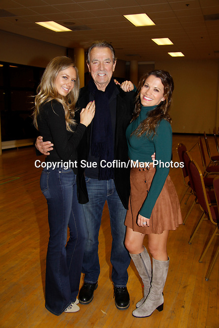 Melissa Ordway & Eric Braeden & Melissa Claire Egan - The Young and The Restless - Genoa City Live celebrating over 40 years with on February 27. 2016 at The Lyric Opera House, Baltimore, Maryland on stage with questions and answers followed with autographs and photos in the theater.  (Photo by Sue Coflin/Max Photos)