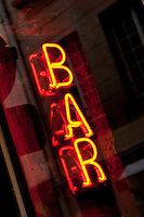 Neon Bar sign in Paris, France