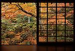 Japanese garden of Sanzenin temple in Kyoto, Japan 2006.