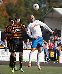 Kris Boyd tries to attack the ball