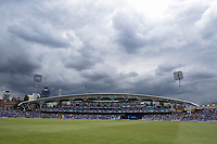 The skies closed in during the afternoon at the Oval during India vs Australia, ICC World Cup Cricket at The Oval on 9th June 2019