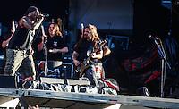 LISBOA, PORTUGAL, 25 DE MAIO 2012 - ROCK IN RIO LISBOA -  A banda Sepultura durante apresentacao palco Mundo no primeiro dia do Rock In Rio Lisboa  na tarde dessa sexta-feira (25) na Cidade do Rock em Lisboa,  Portugal. FOTO: WILLIAM VOLCOV - BRAZIL PHOTO PRESS.