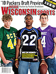 MADISON, WI - January 12: Inside Wisconsin Sports April 2010 cover featuring Wisconsin Badgers football recruits photographed at Firefly Coffeehouse in Oregon, Wisconsin on January 12, 2010. (Photo by David Stluka)