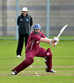 Cricket Scotland Scottish Cup Final - Watsonians CC V Heriots CC at Titwood - Glasgow - a determined 54 (off 105 balls) knock from Watsonians capt Stuart Chalmers helped his side to a 171 total in the first innings - 02.9.12 - 07702 319 738 - clanmacleod@btinternet.com - www.donald-macleod.com