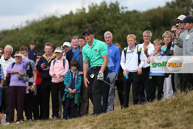 Paul Dunne (IRL) in action during Sunday afternoon Singles matches of The Walker Cup 2015 played at Royal Lytham and St Anne's, Lytham St Anne's, Lancashire, England. 13/09/2015. Picture: Golffile | David Lloyd<br /> <br /> All photos usage must carry mandatory copyright credit (&copy; Golffile | David Lloyd)