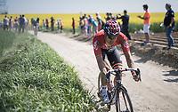 Jens Debusschere (BEL/Lotto-Soudal)<br /> <br /> 115th Paris-Roubaix 2017 (1.UWT)<br /> One Day Race: Compi&egrave;gne &rsaquo; Roubaix (257km)