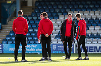 Fleetwood Town's  players inspecting the pitch <br /> <br /> Photographer Andrew Kearns/CameraSport<br /> <br /> The EFL Sky Bet League One - Gillingham v Fleetwood Town - Saturday 3rd November 2018 - Priestfield Stadium - Gillingham<br /> <br /> World Copyright &copy; 2018 CameraSport. All rights reserved. 43 Linden Ave. Countesthorpe. Leicester. England. LE8 5PG - Tel: +44 (0) 116 277 4147 - admin@camerasport.com - www.camerasport.com
