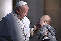 Pope Francis during of a weekly general audience at St Peter's square in Vatican, Wednesday,November. 21, 2018.