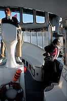 travel writer Blanc Granados enjoying a water taxi, vancouver, British Colombia, Canada 06-02