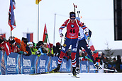 8th December 2017, Biathlon Centre, Hochfilzen, Austria; IBU Biathlon World Cup; Tarjei Boe (NOR) at the finish