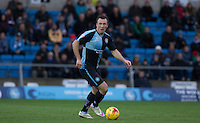 Garry Thompson of Wycombe Wanderers on the ball  during the Sky Bet League 2 match between Wycombe Wanderers and Portsmouth at Adams Park, High Wycombe, England on 28 November 2015. Photo by Andy Rowland.