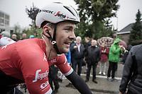 Stage winner Edward Theuns (BEL/Trek Segafredo)<br /> <br /> Binckbank Tour 2017 (UCI World Tour)<br /> Stage 4: Lanaken &gt; Lanaken (BEL) 155km
