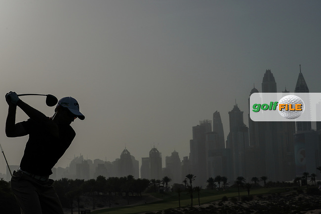 Fabrizio Zanotti (PAR) in action during the first round of the Omega Dubai Desert Classic, Emirates Golf Club, Dubai, UAE. 24/01/2019<br /> Picture: Golffile | Phil Inglis<br /> <br /> <br /> All photo usage must carry mandatory copyright credit (&copy; Golffile | Phil Inglis)