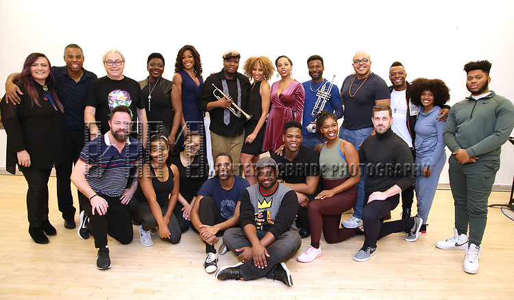 """The cast and creative team During the Open Rehearsal for the Miami New Drama's World Premiere Musical  """"A Wonderful World"""" at the Ripley-Grier Studios on January 26, 2020 in New York City."""