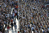 Jul 7, 2007; Hamilton, ON, CAN; Spectators fill the stands prior to the start of the Hamilton Tiger-Cats 2007 season home opener against the Toronto Argonauts at Ivor Wynne Stadium. The Argos defeated the Tiger-Cats 30-5. Mandatory Credit: Ron Scheffler, Special to the Spectator.