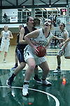 23 February 2018:  Maddie Merritt during an NCAA women's CCIW Semi-Final basketball game between the Elmhurst Bluejays and the Illinois Wesleyan Titans in Shirk Center, Bloomington IL