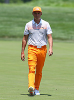 Potomac, MD - July 1, 2018:  Rickie Fowler walks to his ball during final round at the Quicken Loans National Tournament at TPC Potomac  in Potomac, MD, July 1, 2018.  (Photo by Elliott Brown/Media Images International)