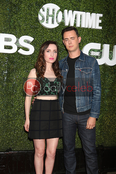 Zoe Lister-Jones, Colin Hanks<br /> at the CBS, CW, Showtime Summer 2016 TCA Party, Pacific Design Center, West Hollywood, CA 08-10-16<br /> David Edwards/DailyCeleb.com 818-249-4998