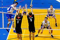 GRONINGEN - Volleybal , Lycurgus - Taurus, kampioenspoule, seizoen 2018-2019, 13-04-2019, smash Lycurgus speler Wytze Kooistra