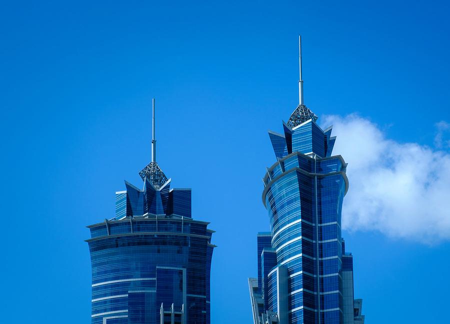 UNITED ARAB EMIRATES, DUBAI - CIRCA JANUARY 2017: Skyscrapers in Dubai.