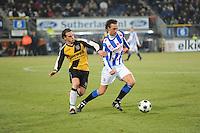 VOETBAL: SC HEERENVEEN: Abe Lenstra Stadion, 17-02-2012, SC-Heerenveen-NAC, Eredivisie, Eindstand 1-0, Geert Arend Roorda, Robbert Schilder, ©foto: Martin de Jong.