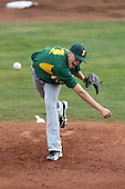 February 21, 2010:  Pitcher Justin Brantley (14) of the Siena Saints during a game at Melching Field at Conrad Park in DeLand, FL.  Siena lost to Stetson by the score of 8-7.  Photo By Mike Janes/Four Seam Images