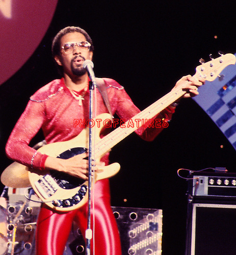 Brothers Johnson 1980 Louis Johnson on Midnight Special<br /> © Chris Walter