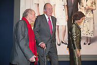 King Juan Carlos I of Spain and Queen Sofia of Spain attend a painting exhibition with painter Antonio Lopez at Palacio Real in Madrid, Spain. November 03, 2014. (ALTERPHOTOS/Victor Blanco) /NortePhoto.com