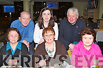TRACK TIME: Eileen McSweeney, Marian Park, Tralee celebrating her 91st birthday with family and friends at the Kingdom Greyhound Stadium on Saturday seated l-r: Eileen McSweeney, Priscilla Sweeney and Marie Murphy. Back l-r: Martin Moloney, Celene Moloney and Pat Clifford.