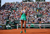 4th June 2017, Roland Garros, Paris, France; French Open tennis championships;  Kristina Mladenovic (Fra) defeated Garbine Muguruza (Esp)